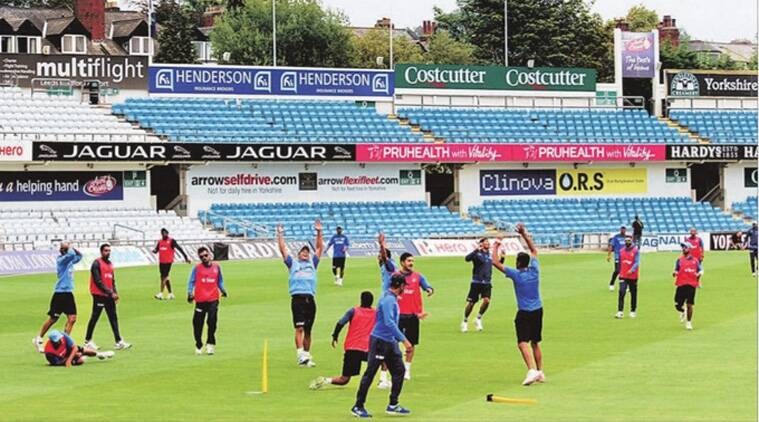 Having won the ODI series already, India cut a happy picture during training a day before the final game of the ODI series in Headingly. (Express photo by Daksh Panwar)