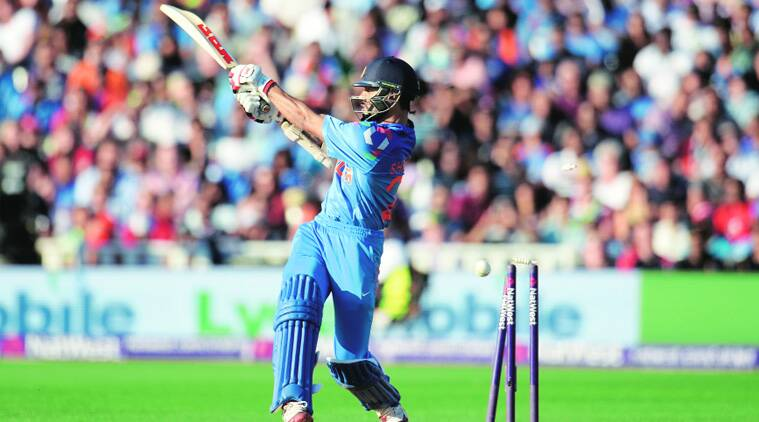 Shikhar Dhawan's wicket ended a 79-run stand for the second wicket with Virat Kohli during the lone T20I in Edgbaston on Sunday. On this final day of a 77-day long tour, Kohli went on to notch his first fifty of his stay in England, but India lost the match by three runs (Source: Reuters)