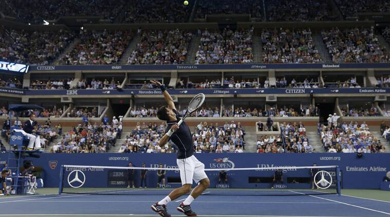 Djokovic pulled away to win 7-6 (1), 6-7 (1), 6-2, 6-4 and reach the tournament's semifinals for the eighth consecutive year. (Source: Reuters)