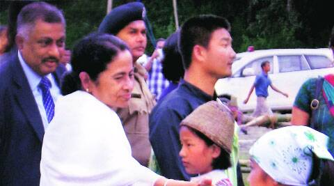 Mamata Banerjee at the Third Lepcha Foundation Day in Kalimpong Wednesday. ( Source: PTI )