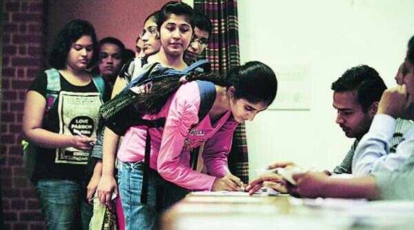 Around 43 per cent students voted in the Delhi University Students' Union elections on Friday.