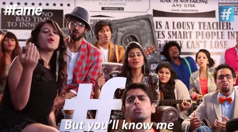 The video by #fame music takes a dig at every star son/daughter.
