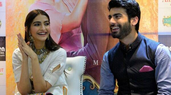 """I have seen the promos of 'Humsafar' on Zindagi and I am thankful to all those who have loved the show before and who are waiting for it now."" Seen here with Sonam Kapoor during 'Khoobsurat' promotions. (Source: PTI)"