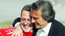 Di Montezemolo with Schumacher in happier times. Source: File