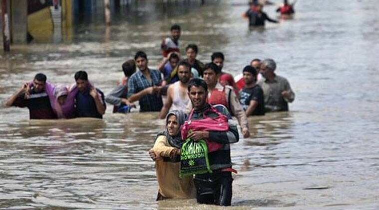 A team of officers led by the Home Secretary left for Srinagar to coordinate relief and rescue operations, official said.