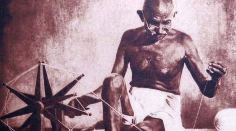 Gandhi, Mahatma Gandhi, Gandhi charkha, Gandhi spinning wheel, Gandhi charkha photograph, Gandhi freedom movement, Gandhi charkha photograph TIME magazine, Indian Express, India news