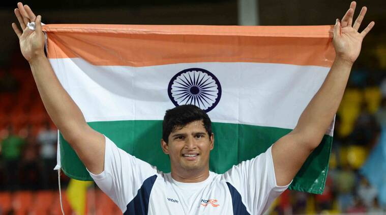 The towering Gowda won a gold in the discus throw at the Commonwealth games. (Source: IE File)