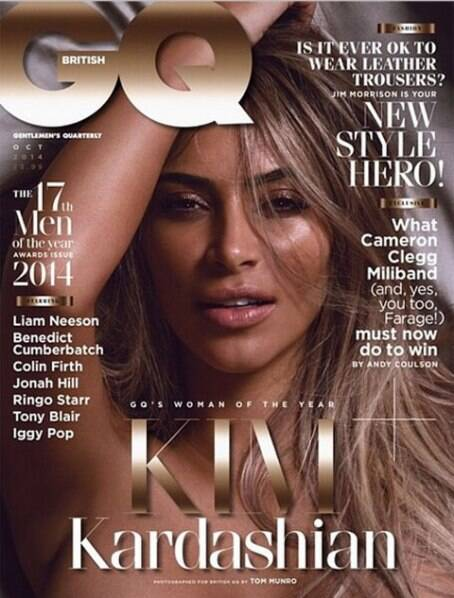 Kim Kardashian on the GQ cover. (Source: Instagram)
