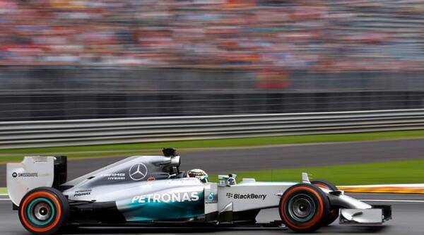 Lewis Hamiltpn was the fastest in Monza in the first free practice. (Source: Reuters)