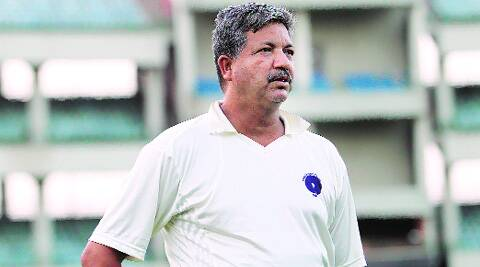 Delhi U19 coach Hitesh Sharma is known to be a stickler for fitness. (Source: Express photo by Ravi Kanojia)