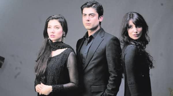 the cast of the TV show Humsafar — Mahira Khan, Fawad Khan and Naveen Waqar.