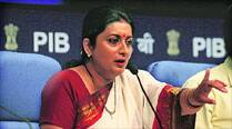 Will follow constitution: Smriti on school books