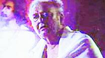 Soumitra Chatterjee, who plays the role  of Daroka Bhaduri, is in a pensive mood