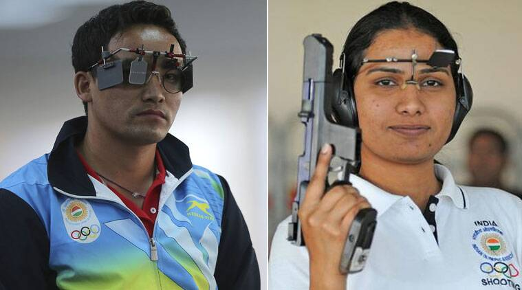 India's Jitu Rai (centre) bagged India's first gold medal at Incheon on Saturday.(Source: AP)
