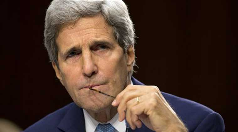 John Kerry pauses as he testifies on Capitol Hill in Washington, Wednesday, Sept. 17, 2014, during a Senate Foreign Relations Committee hearing on the US strategy to defeat the Islamic State group. (Source: AP)