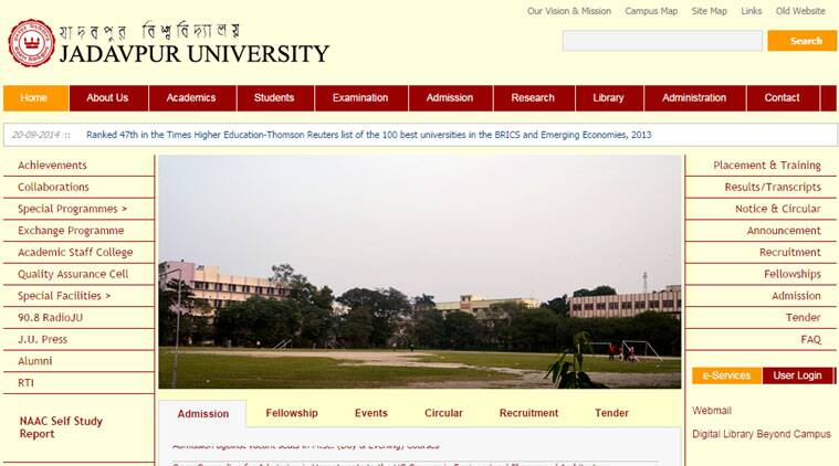 An apology message attributed to the VC was on Saturday posted on Jadavpur University website.
