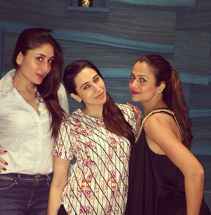 Meanwhile, new Instagram joinee Karsima Kapoor posted pictures of hers with younger sister Kareena and their bestie Amrita Arora.