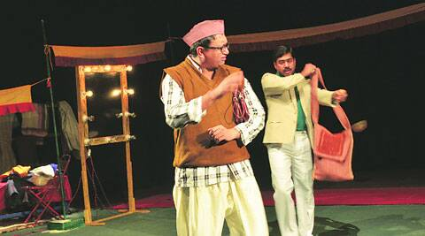 Gopal Datt Tiwari and Sandeep Shikhar during rehearsals of Kaumudi