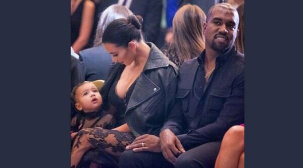 Kim Kardashian with husband and rapper Kanye West and their daughter North. (Source: Facebook/Kim Kardashian)