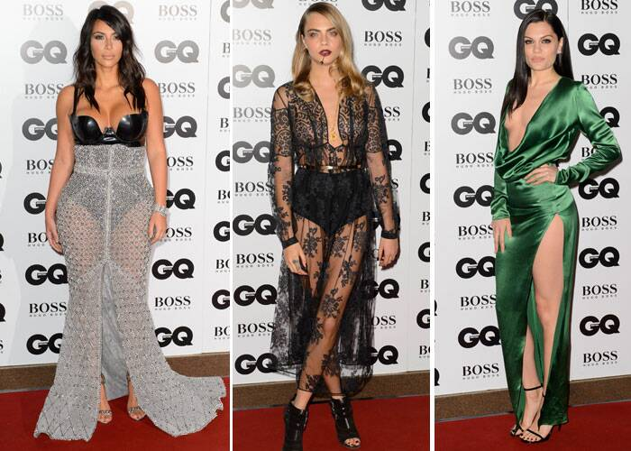This year's GQ Men of the Year Awards witnessed a whole lot of skin show from celebrities including Kim Kardashian, Cara Delevingne and Jessie J.  (Source: AP)