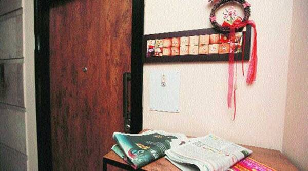 Closed apartment of footballer Ramirez Barreto in South Kolkata on Wednesday. ( Source: Express photo by Subham Dutta )