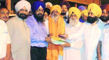 Newly elected SAD's Ludhiana district president Harbhajan Singh Dang at an event on Thursday.