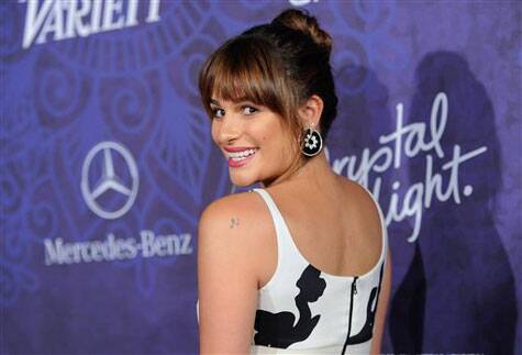 Lea Michele arrives at Variety and Women in Film's pre-Emmy celebration at Gracias Madre on Saturday, Aug. 23, 2014 in West Hollywood, Calif. (Source: AP)