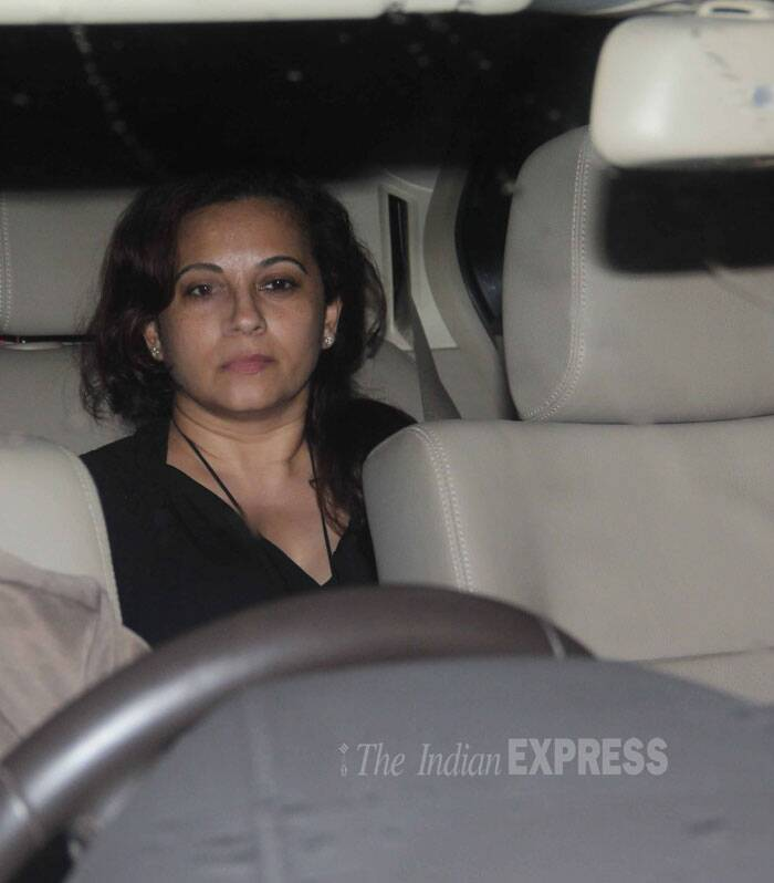 Actor Rohit Roy's wife Mansi Roy was also there for the screening. (Source: Varinder Chawla)