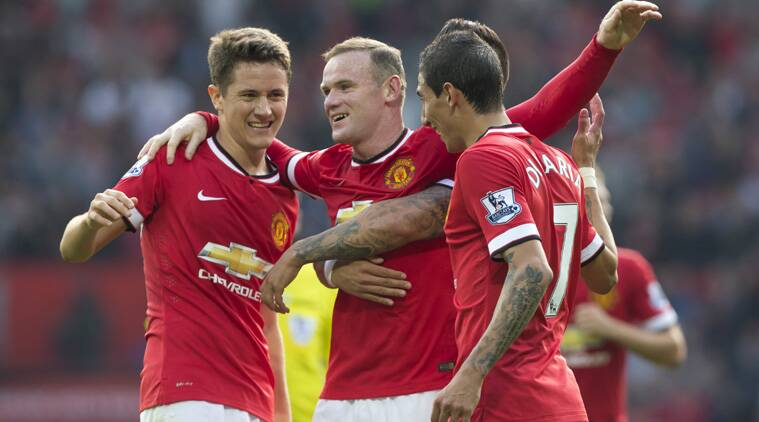 Di Maria and Herrera scored their first goals for United, Rooney and Mata added others. (Source: AP)
