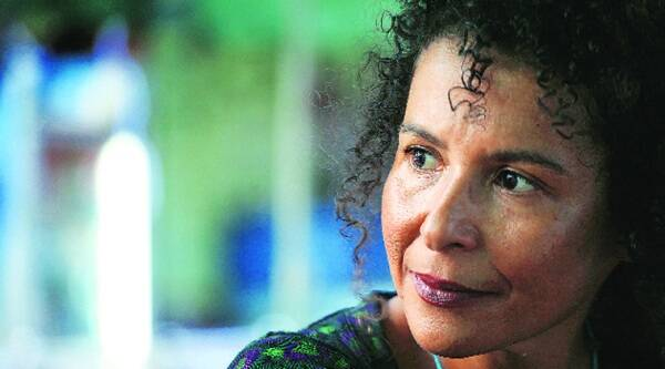 Mariane Pearl in Delhi on Monday.Source: Oinam Anand