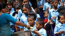 Midday meal cooks protest, demand increase in salary