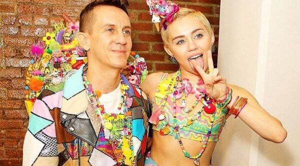 Miley Cyrus collaborated with fashion designer Jeremy Scott . (Source: Instagram)