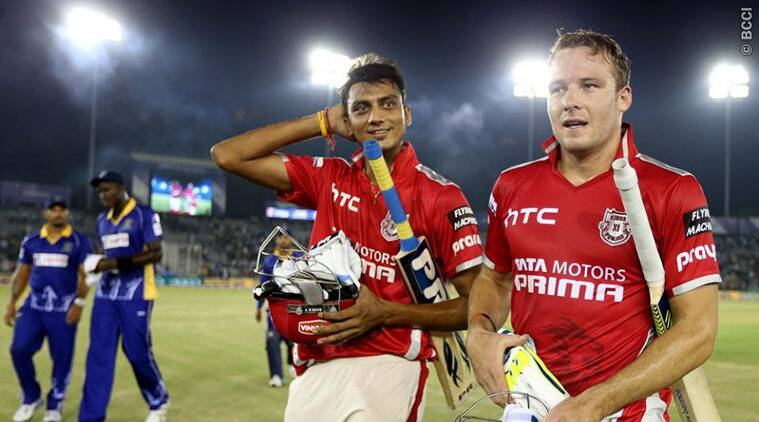 David Miller and Akshar Patel combined well towards the end to push KXIP to their second win in CLT20 2014 (Source: BCCI)