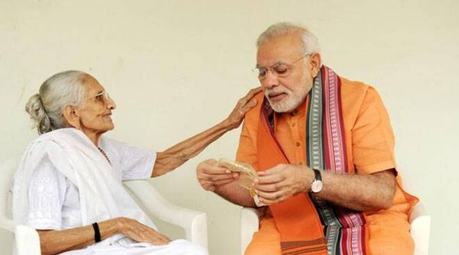 Narendra Modi turns 64, meets mother in Gandhinagar