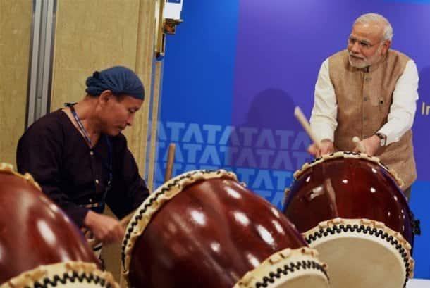 Narendra Modi reveals his musical side in Japan