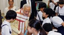 Modi in Japan, Day 3: PM visits school, seeks help in Japanese languageteaching