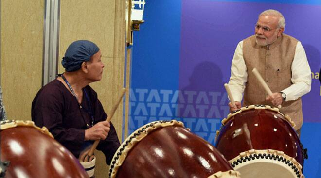 Narendra Modi reveals his musical side in Japan