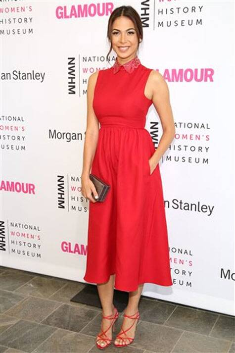 Moran Atias arrives during the 3rd Annual Women Making History Event at the Skirball Cultural Center on Saturday, Aug. 23, 2014, in Los Angeles. (Source: AP)