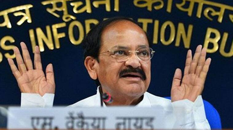 Union Minister for Parliamentary Affairs M Venkaiah Naidu at a press conference at Shastri Bhavan in New Delhi on Thursday, June 12, 2014. (Source: AP photo)
