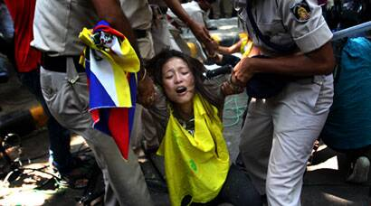 Tibetans protest as Chinese President Xi Jinping visits India