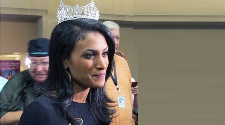 Davuluri, 25, is the first Indian-American to be crowned as Miss America 2014, and Hari Sreenivasan, 40, is a PBS NewsHour Weekend Anchor.(Source: AP)