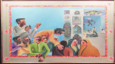 Bhupen Khakhar's Waiting for Darshan