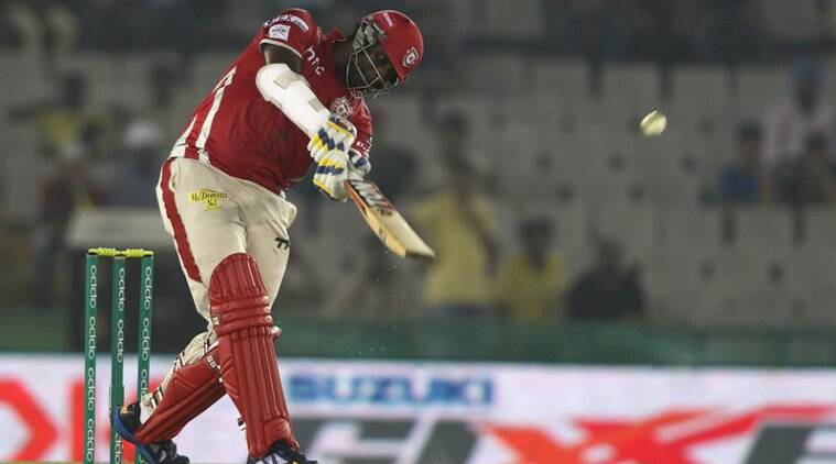 Thesera Perera's counter-attack bailed out Kings XI against the Hobart Hurricanes. (Source: BCCI)