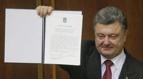 Ukraine parliament ratifies EU pact