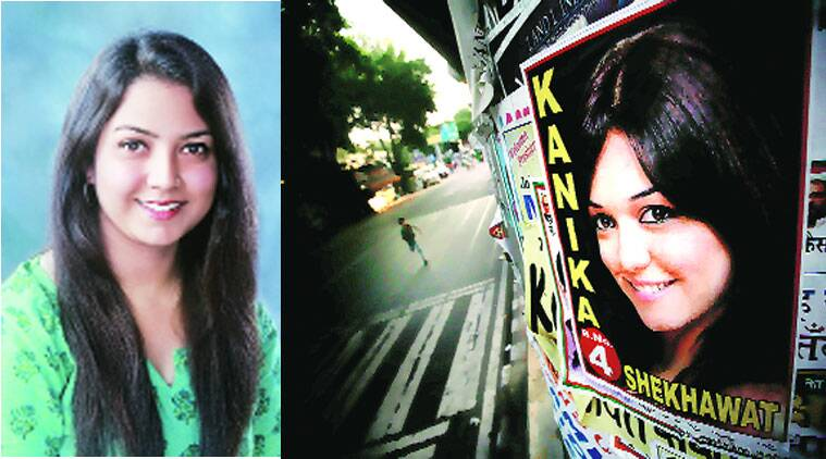 ABVP candidate wins with some help from a model — her poster