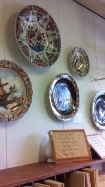 Caption: Examples of the Majolica products hanging on the walls of the factory. (Source: Express photo by Khyati Rajvanshi)