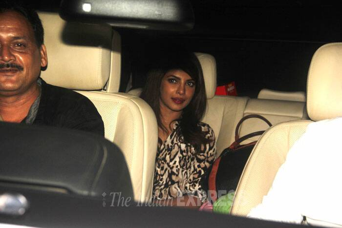 National Award wining actress Priyanka Chopra was spotted at  the special screening of her upcoming biopic - Mary Kom held at Yash Raj Studios in Mumbai on Sunday evening. (Source: Varinder Chawla)