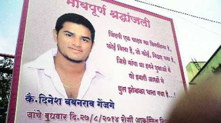 Dinesh Genjage, 25, died in an accident last week. His friends put up a condolence message in his tribute.