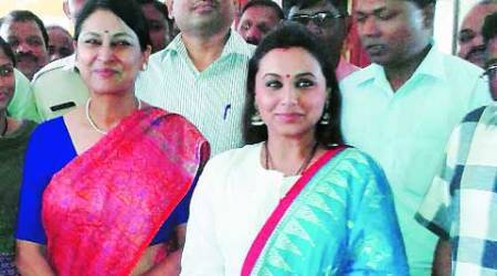 Rani Mukherjee with Meeran Borwanker in Pune. The ADG-Prisons said the actor agreed to come back to open Diwali sale of goods made by jail inmates. (Source: Express)