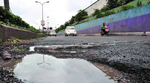 PCMC says it will use the funds for repairing roads.  ( Source: Express photo by Rajesh Stephan )